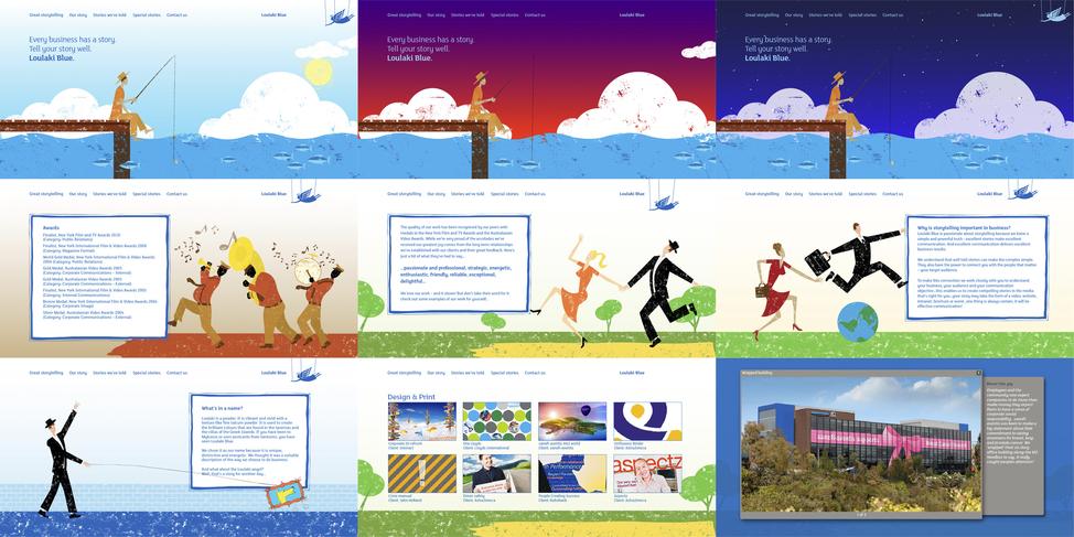 Loulaki Blue website screens